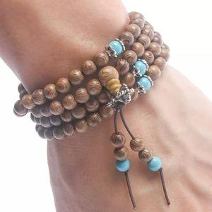 Other - NWT Brown Mala Prayer Bead Bracelet